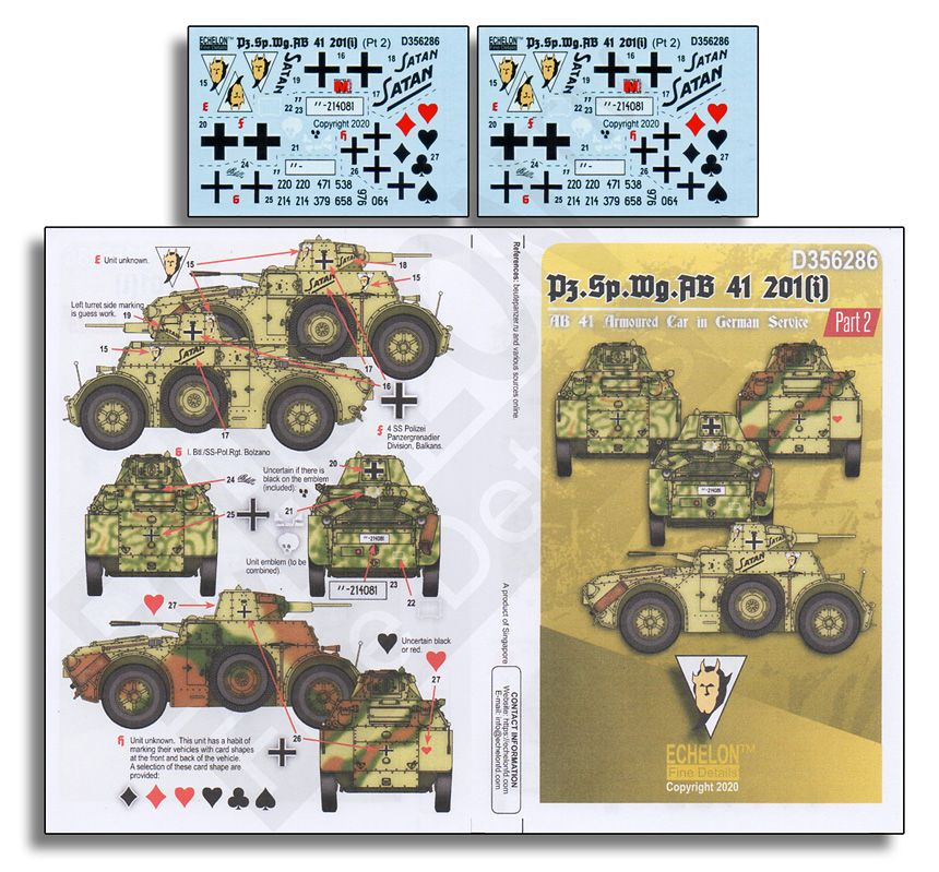 Echelon FD 1/35 Pz.Sp.Wg.AB 41 201(i) Part 2 # D356286