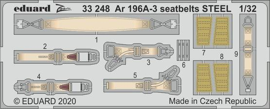 Eduard 1/32 Arado Ar-196A-3 Seatbelts STEEL Zoom Set # 33248