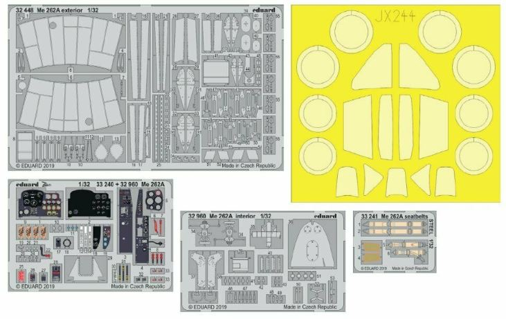 Eduard 1/32 Messerschmitt Me-262A-1 Big-Ed Set # 33110