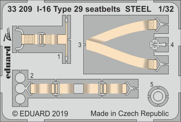 Eduard 1/32 Polikarpov I-16 type 29 Seatbelts STEEL # 33209