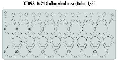 Eduard 1/35 M24 Chaffee Wheel Masks # XT093