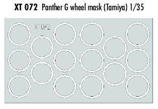 Eduard 1/35 Pz.Kpfw.V Panther Ausf.G Wheel Paint Masks # XT072