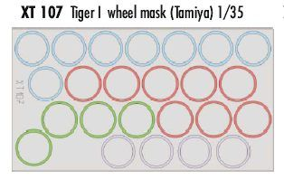 Eduard 1/35 Tiger I Wheel Masks # XT107