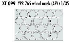 Eduard 1/35 YPR765 Wheel Masks # XT099
