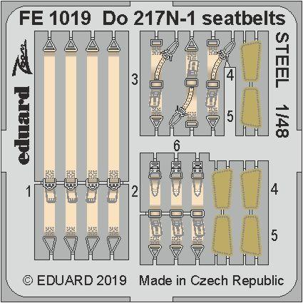 Eduard 1/48 Dornier Do-217N-1 Seatbelts STEEL Zoom Set # FE1019