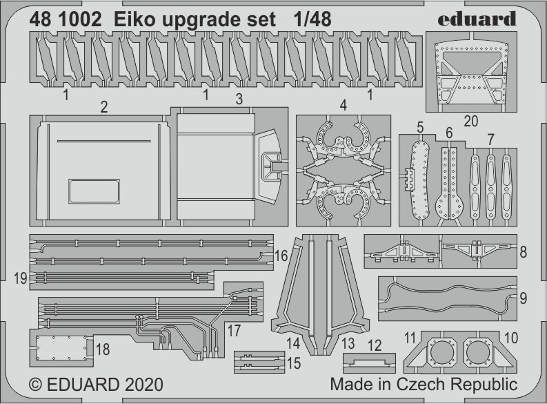 Eduard 1/48 Eiko F-104J Upgrade Set # 481002