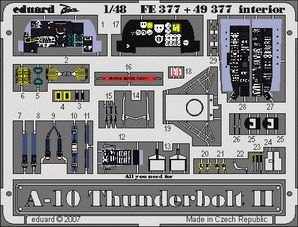 Eduard 1/48 Fairchild A-10A Thunderbolt II Interior PRE-PAINTED IN COLOUR! # FE377