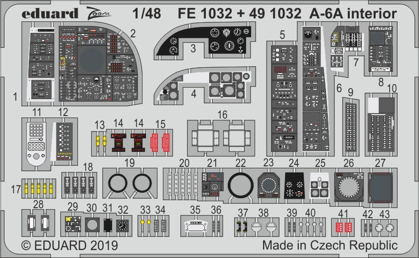 Eduard 1/48 Grumman A-6A Intruder Interior Zoom Set # FE1032