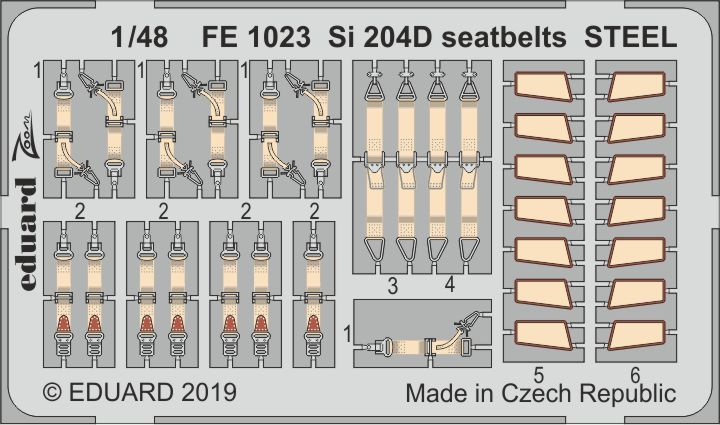 Eduard 1/48 Siebel Si-204D Seatbelts STEEL Zoom Set # FE1023
