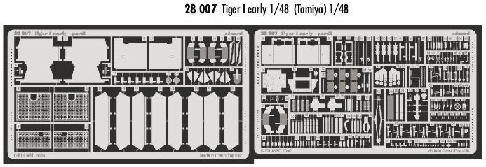 Eduard 1/48 Tiger I early version # 28007