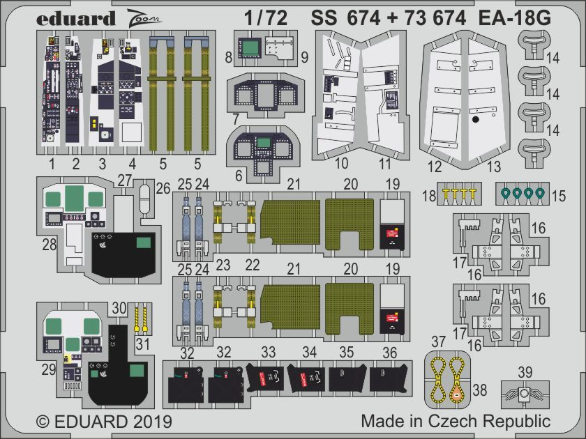 Eduard 1/72 Boeing EA-18G Growler Zoom Set # SS674