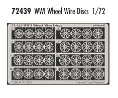 Eduard 1/72 WWI wheel wire discs # 72439