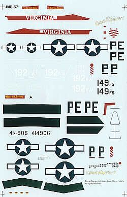 Experts Choice 1/48 Lockheed-Martin F-16C and North-American P-51D # 4857