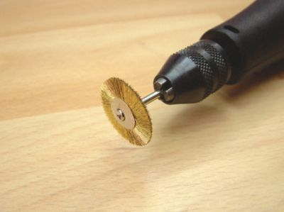 Expo Brass Wheel Wire Brush for Mini Drills # 16613
