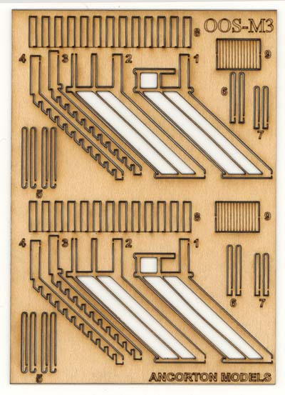 Expo Tools - OOSM3 Ancorton OO Gauge Signal Box Wooden Stairs with Handrails # 95741