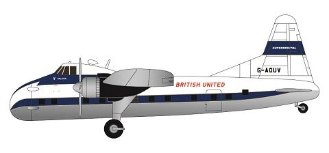 F-rsin 1/144 Bristol Superfreighter Mk.32 - British United G-AOUV # FRP4108