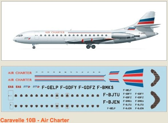 F-rsin 1/144 Caravelle 10B Air Charter # 4077