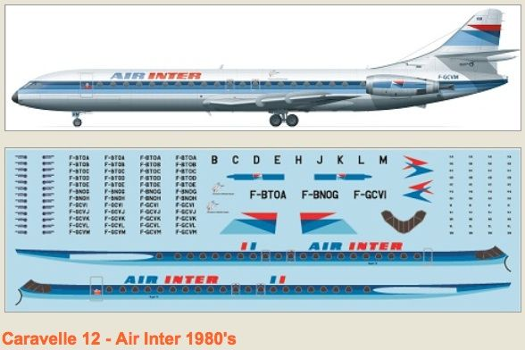 F-rsin 1/144 Caravelle 12 Air Inter 80's # 4070