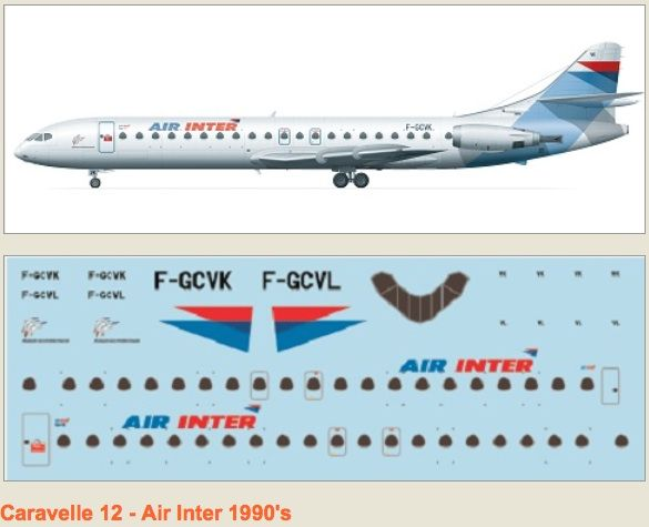F-rsin 1/144 Caravelle 12 Air Inter 90's # 4071