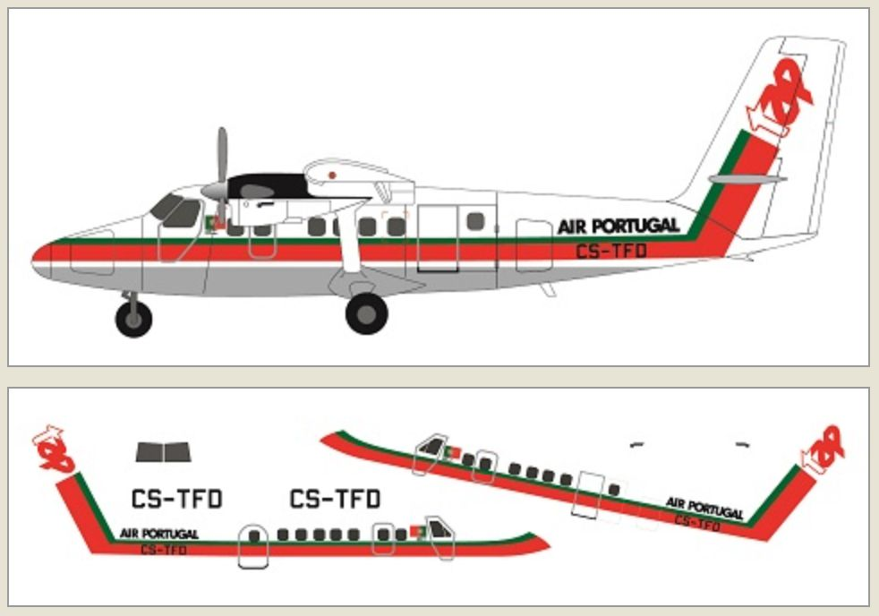 F-rsin 1/144 DHC-6 Twin Otter - TAP Air Portugal # 44124