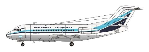 Delivery Colours # 4086 F-rsin 1//144 Fokker F-28-1000 Air France