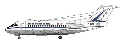 F-rsin 1/144 Fokker F-28-1000 Air France (Delivery Colours) # 4086