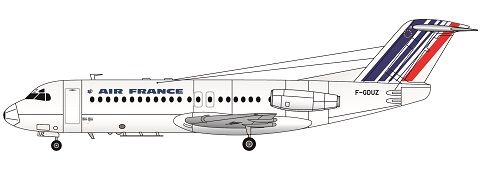 F-rsin 1/144 Fokker F-28-4000 Air France (Newer Colours) # FRP4087