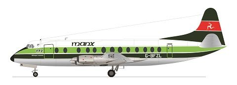 F-rsin 1/144 Vickers Viscount 800 - Manx Airline # 4085
