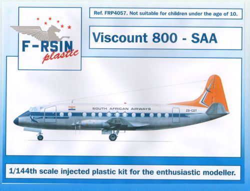 F-rsin 1/144 Vickers Viscount 800 - South African # 4057