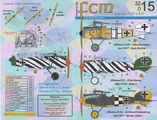 FCM 1/32 Albatros D.III and D.V Part 1 # 32015