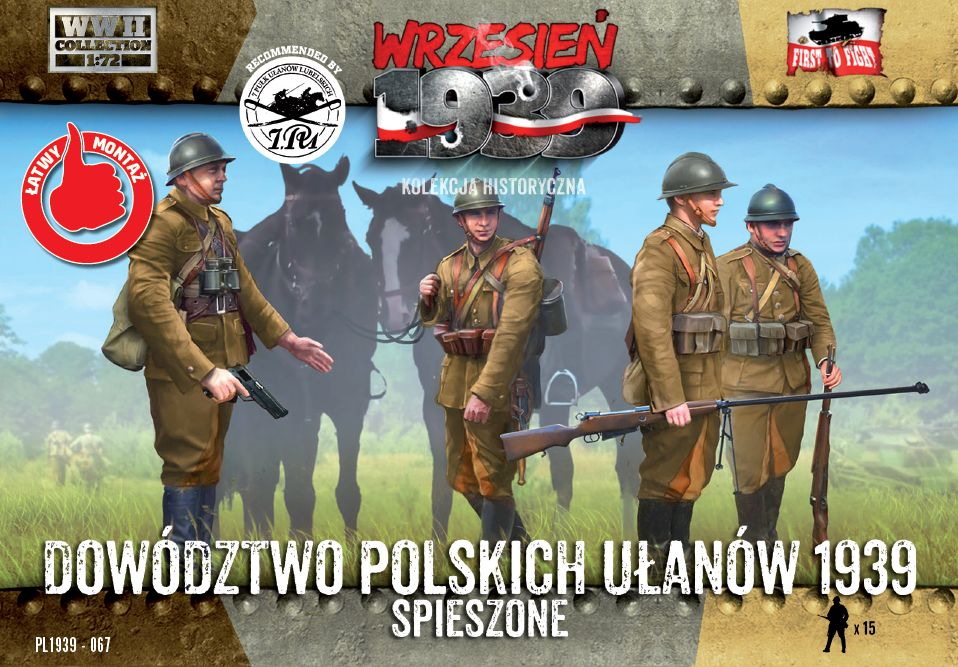 First to Fight 1/72 Polish Uhlans Headquarters on Foot # 067