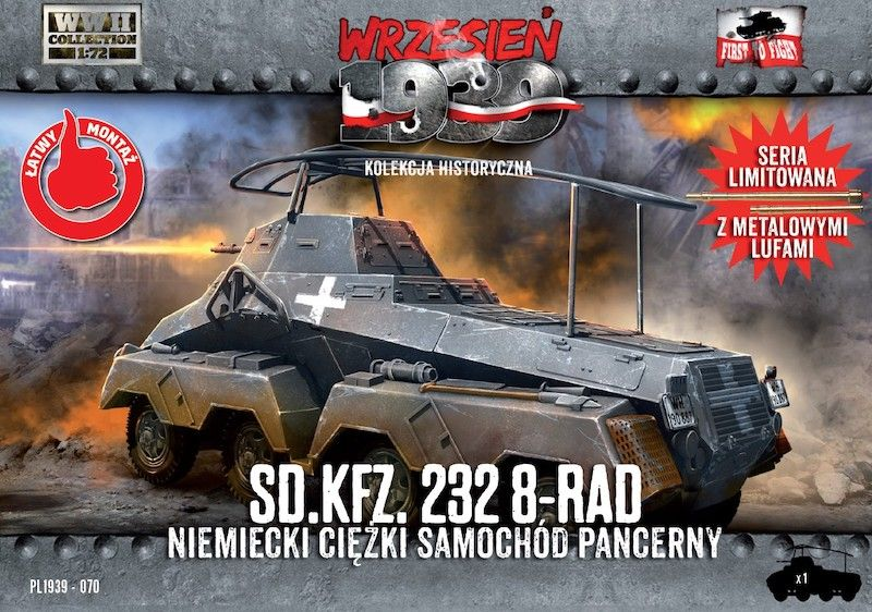 First to Fight 1/72 Sd.Kfz.232 8-Rad German Heavy Armoured Car # 070