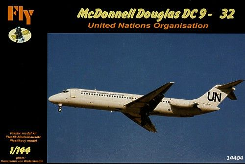 Fly 1/144 McDonnell Douglas DC9-32 United Nations # 14404