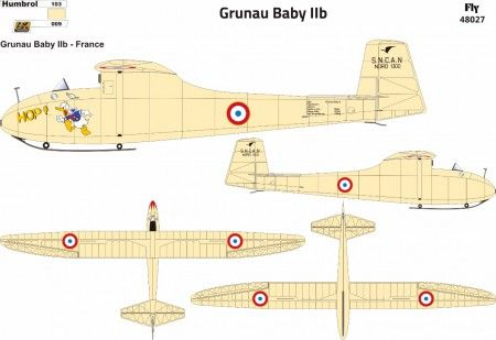 Fly 1/48 Grunau Baby IIB Decals France # 48027