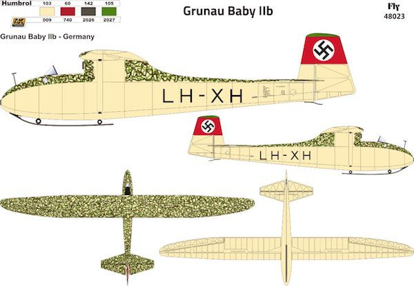 Fly 1/48 Grunau Baby IIB Germany # 48023