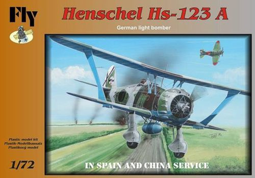Fly 1/72 Henschel Hs-123A -  In Spain and China Service # 72009
