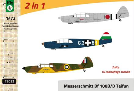 Fly 1/72 Messerschmitt Bf-108B/D Taifun - Double Kit # 72032