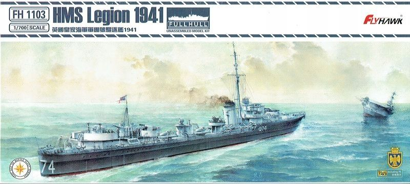 FlyHawk 1/700 HMS Legion 1941 L Class Destroyer Full Hull # FH1103