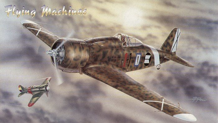 Flying Machines 1/48 Fiat G.50 I Serie # 48003