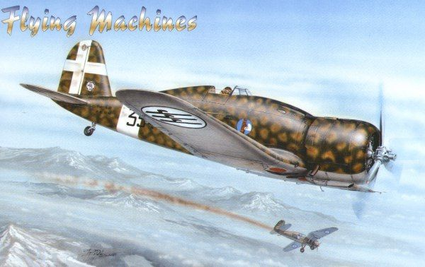 Flying Machines 1/48 Fiat G.50 Serie II w/ resin and etch # 48004