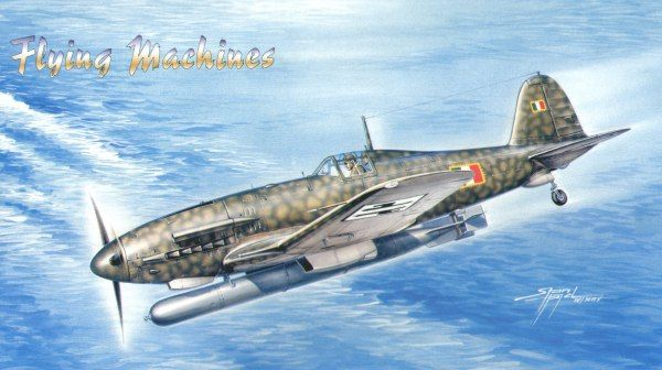 Flying Machines 1/48 Fiat G.55-II serie S Silurante with Torpedo w/ Resin & Etch # 48005