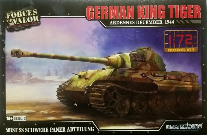 Forces of Valor 1/72 German King Tiger - Ardennes December, 1944 # 873002A