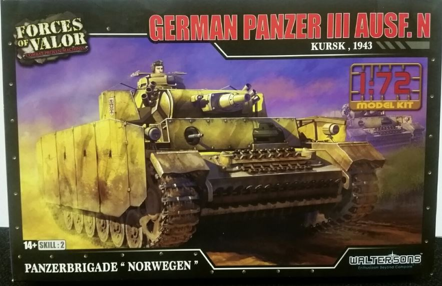 Forces of Valor 1/72 German Panzer III Ausf. N - Kursk, 1943 # 873008A