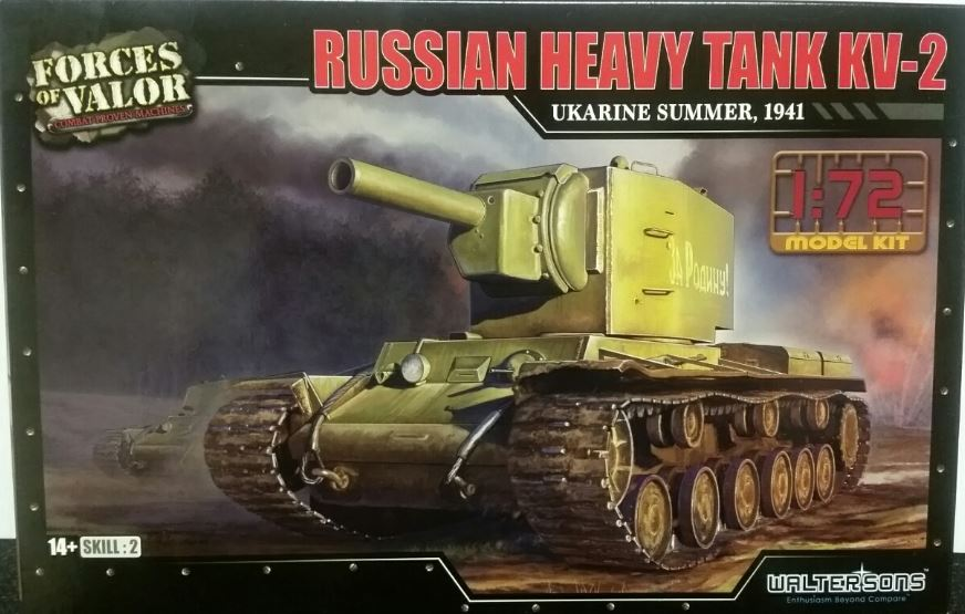 Forces of Valor 1/72 Russian Heavy Tank KV-2 - Ukraine Summer, 1941 # 873003A