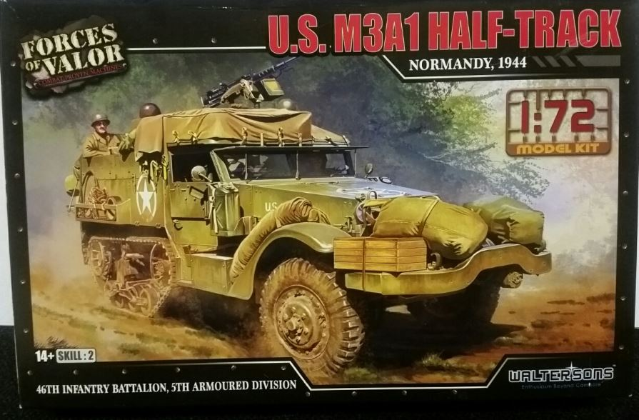 Forces of Valor 1/72 U.S. M3A1 Half-Track - Normandy, 1944 # 873007A