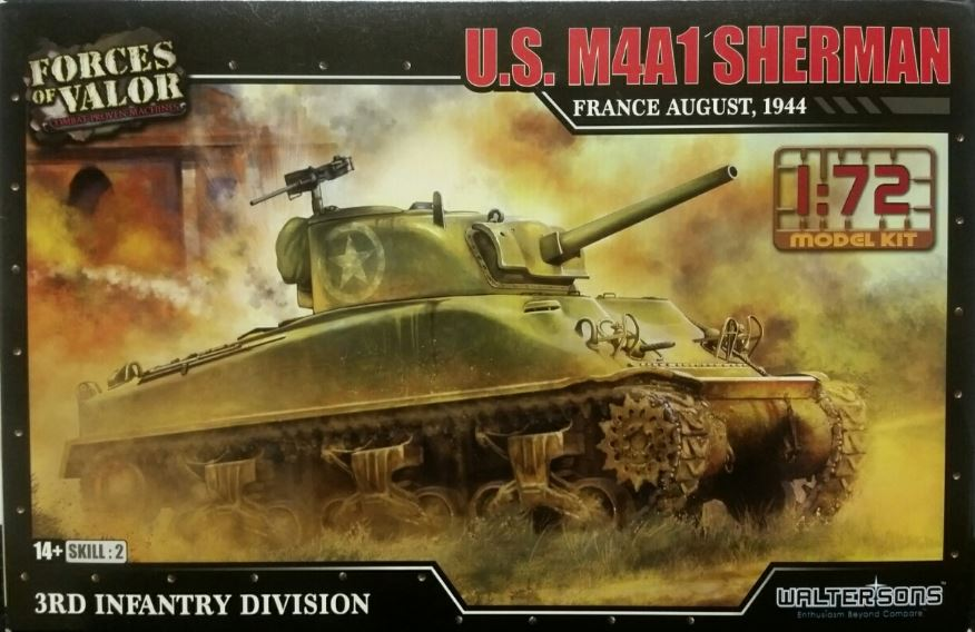 Forces of Valor 1/72 U.S. M4A1 Sherman - France August, 1944 # 873004A