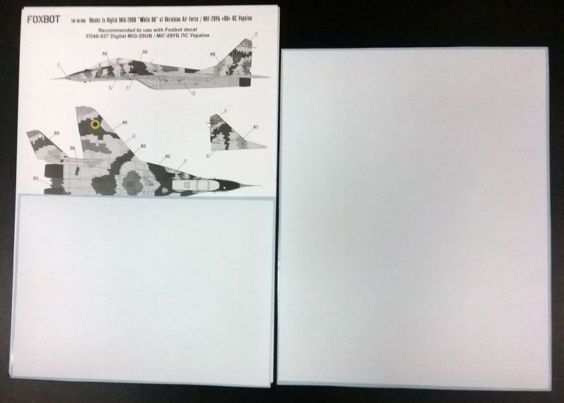 Foxbot Decals 1/48 Digital Mikoyan MiG-29UB, Ukranian Air Forces # FM48008