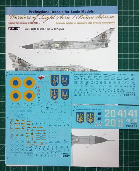 Foxbot Decals 1/48 Digital Sukhoi Su-24M # FBOT48029