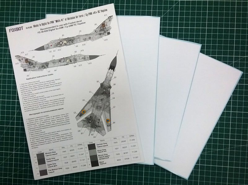 "Foxbot Decals 1/48 Digital Sukhoi Su-24M ""White 41"" # FM48006"