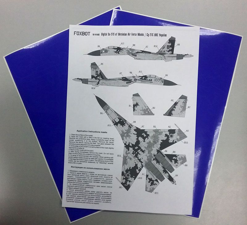 Foxbot Decals 1/48 Digital Sukhoi Su-27S # FM48003